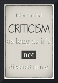 Humorous Poster - Criticism - Neutral