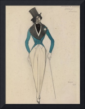 BAKST, LÉON (1866-1924) Costume Design for the Rob