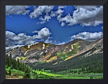 Vibrant Colorado mountain scenic print