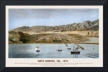 Santa Barbara From the Ocean 1873