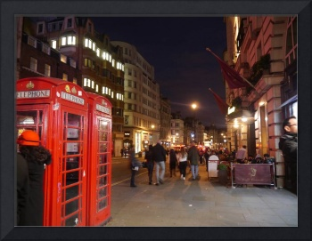 London Telephone Boxes at night