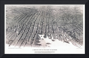 Baltimore Maryland Panoramic Map