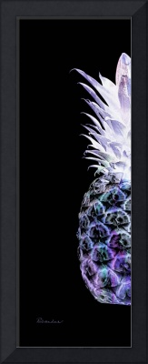 14il Artistic Glowing Pineapple Violet and Green