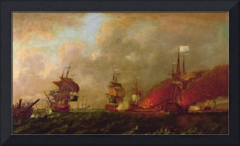 Lord Howe and the Comte d'Estaing off Rhode Islan