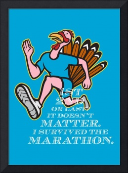 Turkey Marathon Runner Poster