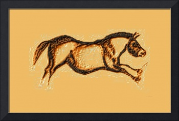 Prehistoric Galloping Horse Brown