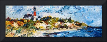 Light House Oasis Oil Painting by Ginette Callaway