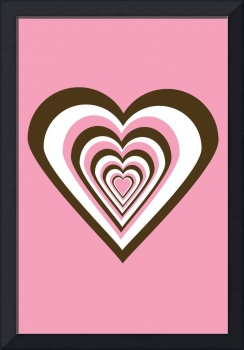 Pink Brown and White Hearts