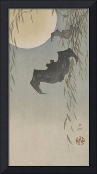 Ohara Koson~Bats in moonlight