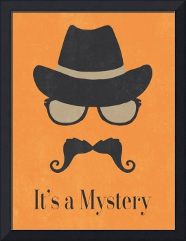 It's a Mystery - Fun Illustrated Poster by Natalie