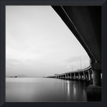 Penang Bridge minimal photography