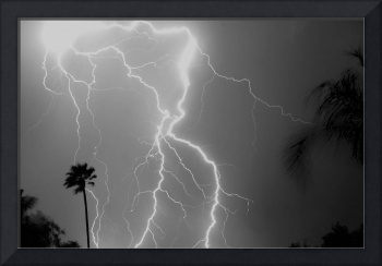 Monsoon Lightning - Black and White ll