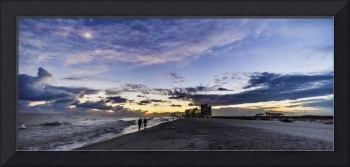 Moonlit Beach Sunset Seascape 0272c