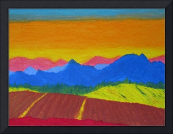 Mountains in pastel