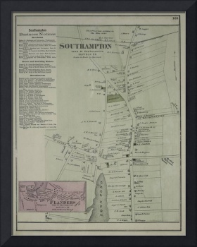 Vintage Map of Southampton New York (1873)