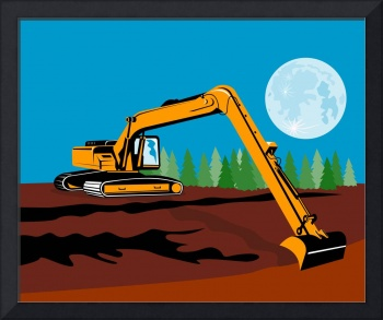 construction digger mechanical excavator