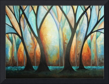 Deep Blue Tree Forest
