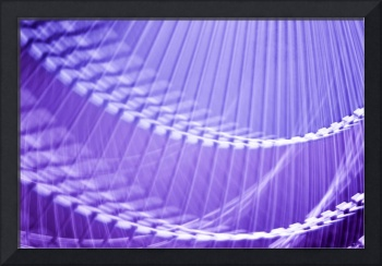 Bright Purple Abstract Wall Art