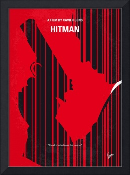 No874 My Hitman minimal movie poster