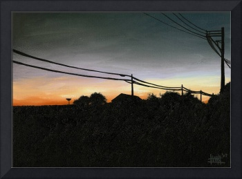 Sunset Power Lines
