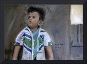 Realistic Painting of a little Kid