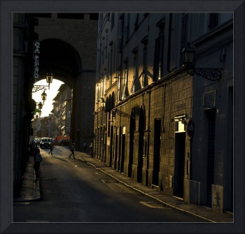 The sunlit streets of Florence