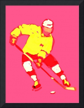 Hockey Left Wing pink yellow red maroon (c)
