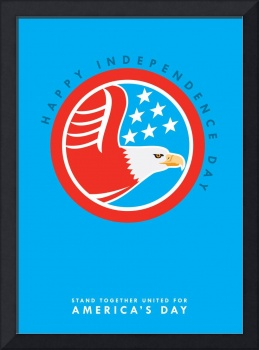 Independence Day Greeting Card-American Bald Eagle