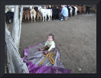 Little Kid doing some farming in Ovorkhangrai Prov