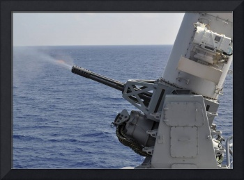 A close-in weapons system aboard the amphibious tr