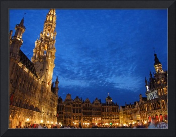 Brussels Grand Place at sunset