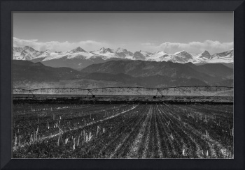 Colorado Rocky Mountain Agriculture View in Black