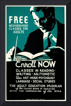 Free Neighborhood Classes for Adults (1937)