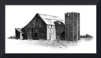 Weathered Barn and Silo