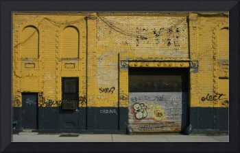 Yellow Wall in Williamsburg - Brooklyn, New York