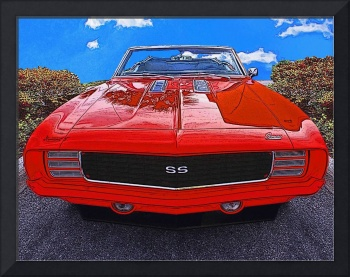 1969 Cheverolet Camaro RS SS Red