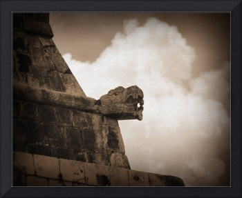 Mayan Serpent Head