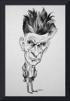 Caricature of Samuel Beckett, Nobel Prize winner a