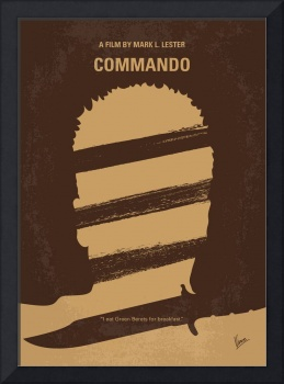 No834 My Commando minimal movie poster