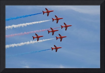 The Red Arrows at Hastings