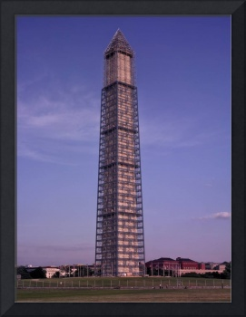 Washington Monument with scaffolding