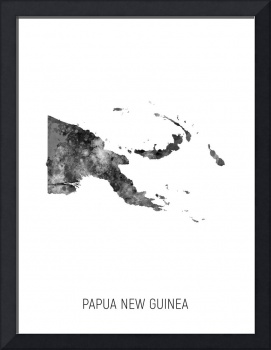 Papua New Guinea Watercolor Map