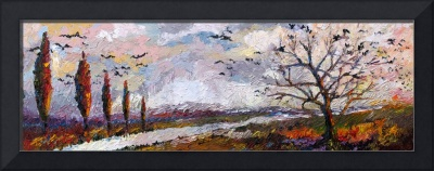 Impressionist Panoramic Autumn Landscape