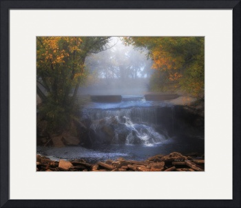 Waterfall in Fog by Kelly Jones