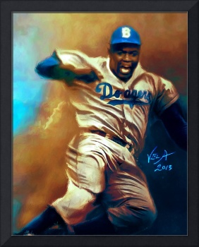 Jackie Robinson Brooklyn Dodgers MLB Steal