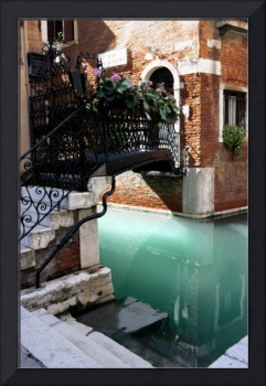 Floral Bridge in Venice, Italy