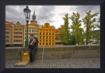 The Blind Accordian Player, Prague