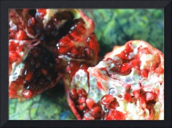 Pomegranate with Green