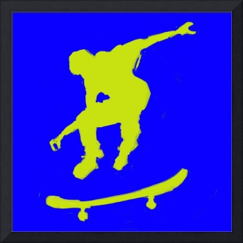 Skateboarder 3 . blue yellow (c)