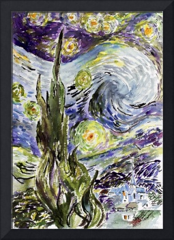 Starry Night After Van Gogh by Ginette